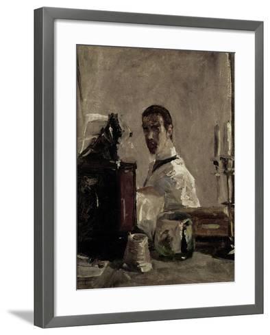 Self Portrait, 1880-Henri de Toulouse-Lautrec-Framed Art Print