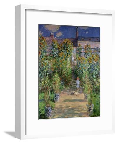 The Artist's Garden at Vetheuil, 1880-Claude Monet-Framed Art Print