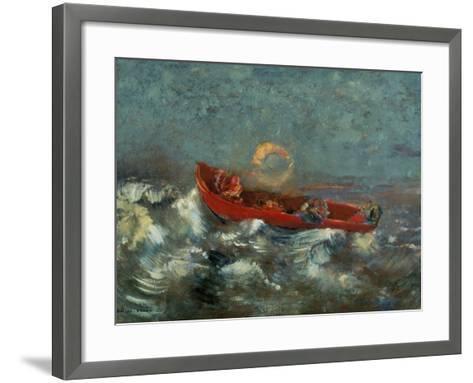 The Red Boat, 1905-Odilon Redon-Framed Art Print