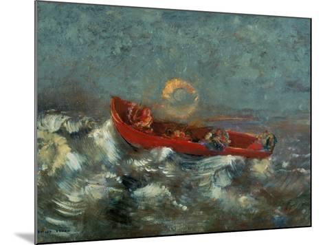 The Red Boat, 1905-Odilon Redon-Mounted Giclee Print