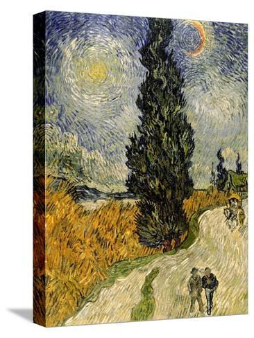 Road with Cypresses, c.1890-Vincent van Gogh-Stretched Canvas Print
