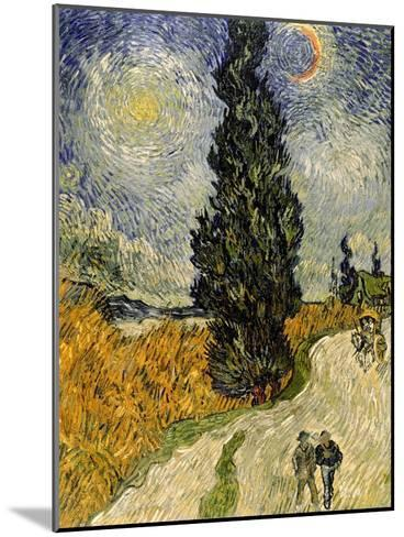 Road with Cypresses, c.1890-Vincent van Gogh-Mounted Giclee Print