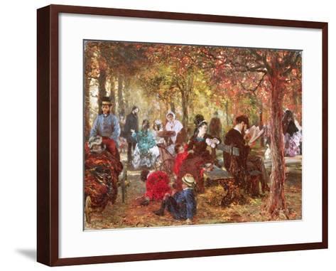 In the Luxembourg Gardens-Adolph von Menzel-Framed Art Print