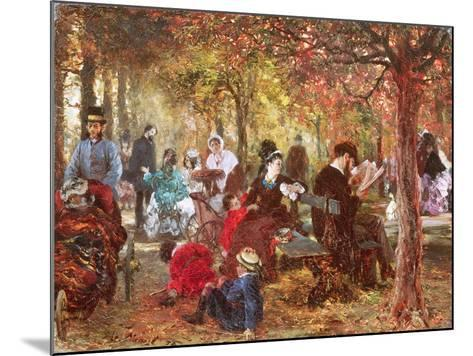 In the Luxembourg Gardens-Adolph von Menzel-Mounted Giclee Print