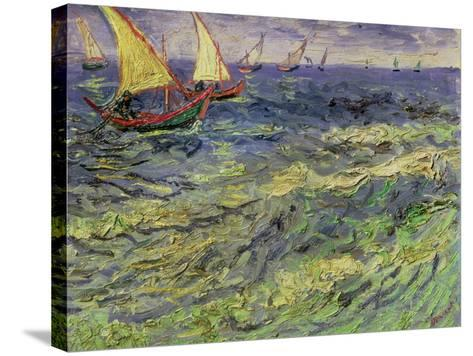 Seascape at Saintes-Maries, c.1888-Vincent van Gogh-Stretched Canvas Print