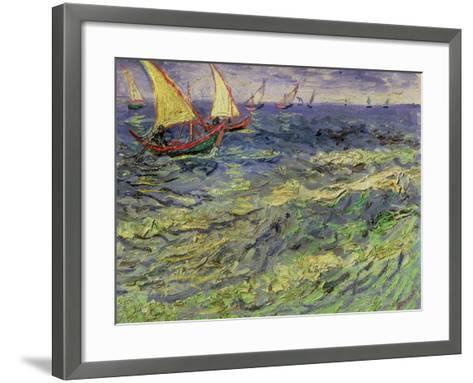 Seascape at Saintes-Maries, c.1888-Vincent van Gogh-Framed Art Print