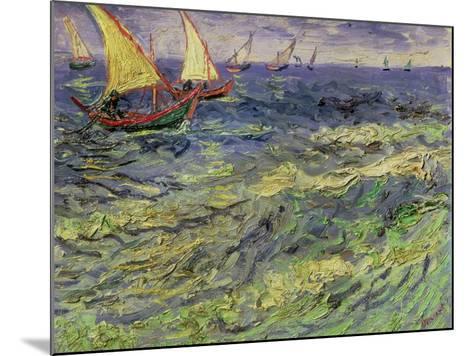 Seascape at Saintes-Maries, c.1888-Vincent van Gogh-Mounted Giclee Print