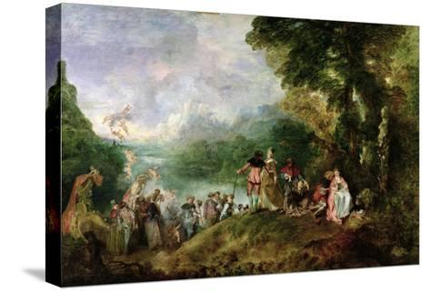 Embarkation for Cythera, 1717-Jean Antoine Watteau-Stretched Canvas Print
