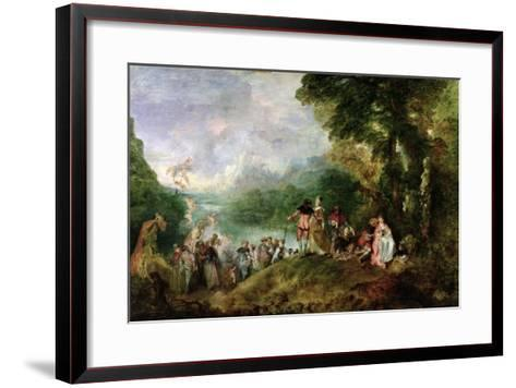 Embarkation for Cythera, 1717-Jean Antoine Watteau-Framed Art Print