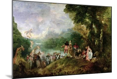 Embarkation for Cythera, 1717-Jean Antoine Watteau-Mounted Giclee Print