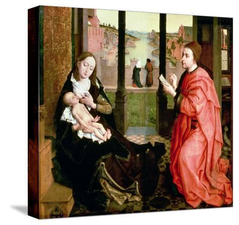 St. Luke Drawing a Portrait of the Virgin-Rogier van der Weyden-Stretched Canvas Print
