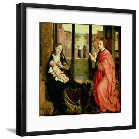 St. Luke Drawing a Portrait of the Virgin-Rogier van der Weyden-Framed Art Print