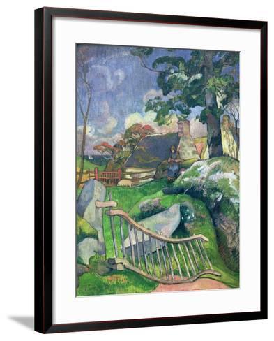 The Wooden Gate Or, the Pig Keeper, 1889-Paul Gauguin-Framed Art Print