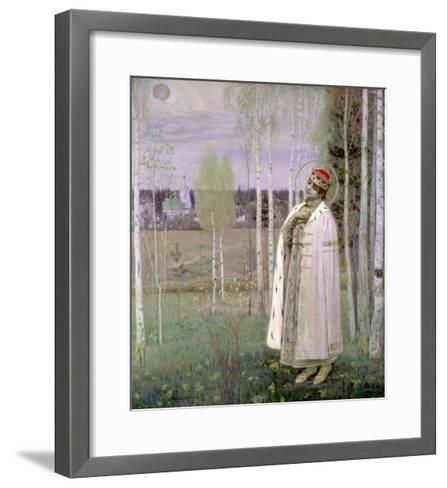 Tsarevich Dimitry, Son of the Assassinated Tsar Nicholas-Mikhail Vasilievich Nesterov-Framed Art Print