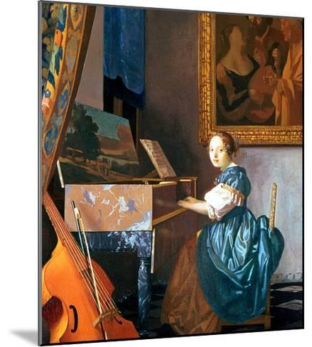 A Young Lady Seated at a Virginal, circa 1670-Johannes Vermeer-Mounted Giclee Print