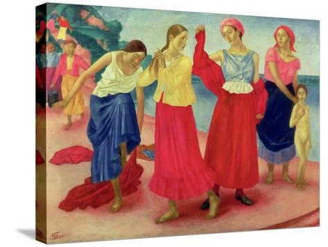 Young Women on the Volga, 1915-Kuzma Sergievitch Petrov-Vodkin-Stretched Canvas Print