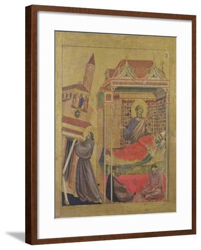 The Vision of Pope Innocent III, circa 1295-1300-Giotto di Bondone-Framed Art Print