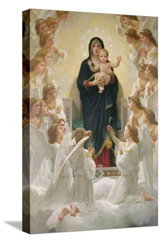The Virgin with Angels, 1900-William Adolphe Bouguereau-Stretched Canvas Print