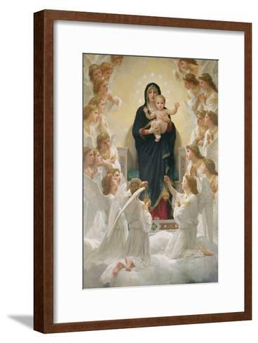 The Virgin with Angels, 1900-William Adolphe Bouguereau-Framed Art Print