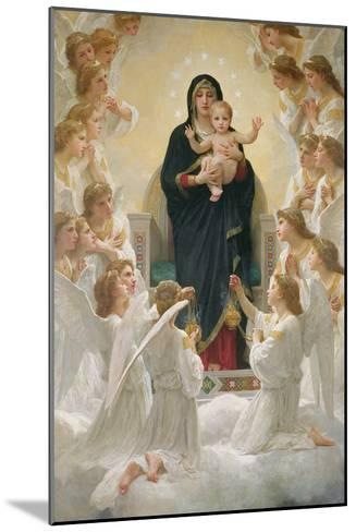 The Virgin with Angels, 1900-William Adolphe Bouguereau-Mounted Giclee Print