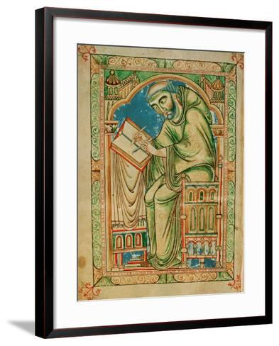 Monk Eadwine at Work on the Manuscript, circa 1150--Framed Art Print
