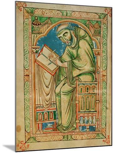 Monk Eadwine at Work on the Manuscript, circa 1150--Mounted Giclee Print