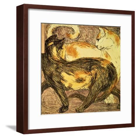 Two Cats-Franz Marc-Framed Art Print