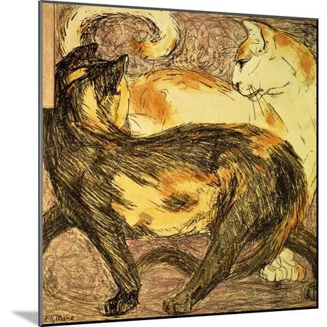 Two Cats-Franz Marc-Mounted Giclee Print