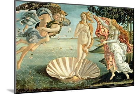 The Birth of Venus, c.1485-Sandro Botticelli-Mounted Giclee Print