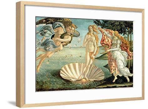 The Birth of Venus, c.1485-Sandro Botticelli-Framed Art Print