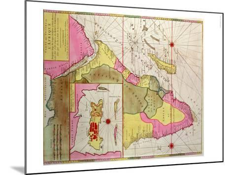 Map of Africa, Including a Detail of the Fortress of Mozambique, circa 1700, Portuguese--Mounted Giclee Print