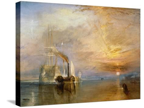 """The """"Fighting Temeraire"""" Tugged to Her Last Berth to be Broken Up, Before 1839-J^ M^ W^ Turner-Stretched Canvas Print"""