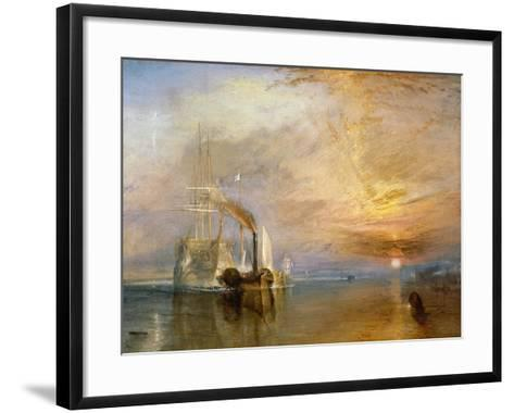 """The """"Fighting Temeraire"""" Tugged to Her Last Berth to be Broken Up, Before 1839-J^ M^ W^ Turner-Framed Art Print"""