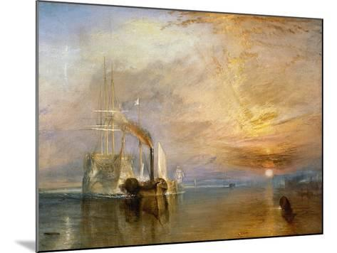"""The """"Fighting Temeraire"""" Tugged to Her Last Berth to be Broken Up, Before 1839-J^ M^ W^ Turner-Mounted Giclee Print"""