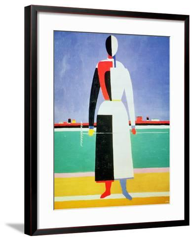 Woman with a Rake, circa 1928-32-Kasimir Malevich-Framed Art Print