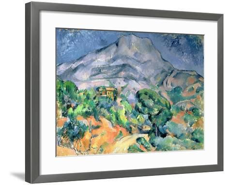 Mont Saint Victoire, 1900-Paul C?zanne-Framed Art Print