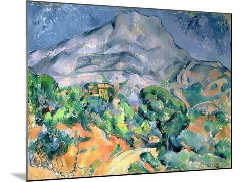 Mont Saint Victoire, 1900-Paul C?zanne-Mounted Giclee Print