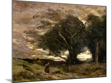 Gust of Wind, 1866-Jean-Baptiste-Camille Corot-Mounted Giclee Print