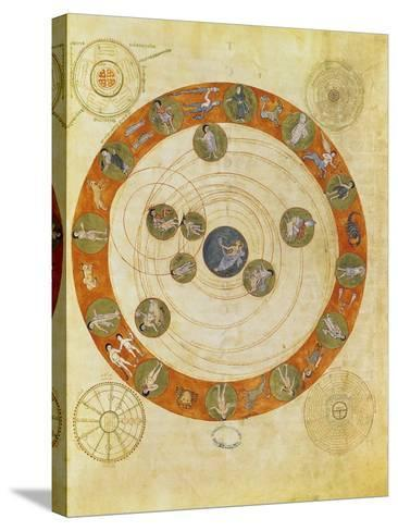 Phenomenes D'Aratus, Cosmological Diagram (Map of the Heavens)--Stretched Canvas Print