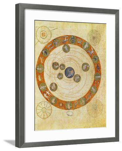 Phenomenes D'Aratus, Cosmological Diagram (Map of the Heavens)--Framed Art Print