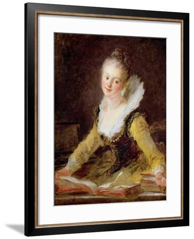 The Study, or the Song, circa 1769-Jean-Honor? Fragonard-Framed Art Print