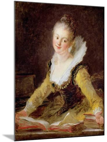 The Study, or the Song, circa 1769-Jean-Honor? Fragonard-Mounted Giclee Print