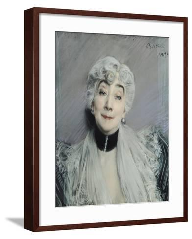 Portrait of the Countess De Martel De Janville, Known as Gyp (1850-1932), 1894-Giovanni Boldini-Framed Art Print
