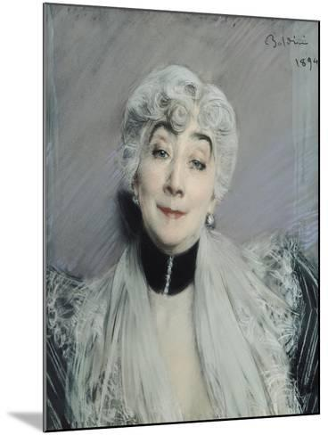 Portrait of the Countess De Martel De Janville, Known as Gyp (1850-1932), 1894-Giovanni Boldini-Mounted Giclee Print