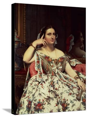 Madame Moitessier, 1856-Jean-Auguste-Dominique Ingres-Stretched Canvas Print