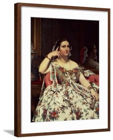 Madame Moitessier, 1856-Jean-Auguste-Dominique Ingres-Framed Art Print