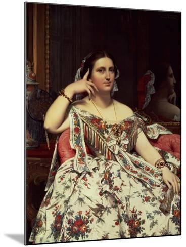 Madame Moitessier, 1856-Jean-Auguste-Dominique Ingres-Mounted Giclee Print