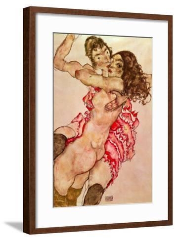 Two Girls Embracing, 1915-Egon Schiele-Framed Art Print