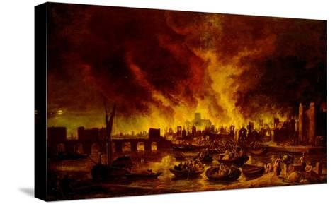 The Great Fire of London in 1666-Lieve Verschuier-Stretched Canvas Print