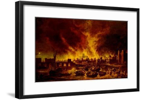 The Great Fire of London in 1666-Lieve Verschuier-Framed Art Print